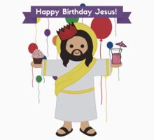 Happy Birthday Jesus! (Party!!!) Christmas Gift Shirt One Piece - Short Sleeve