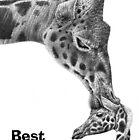 Giraffe & Calf Birthday Card by Lorna Mulligan