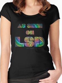 Retro Cool Party Psychedelic LSD Design  Women's Fitted Scoop T-Shirt