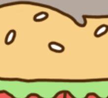 Pusheen on a hamburger Sticker