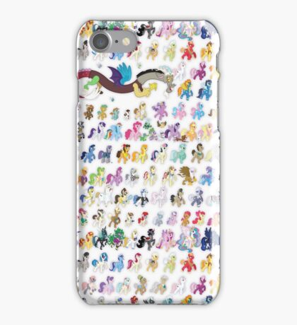 100 PONIES MEGA-PATTERN iPhone Case/Skin