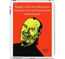 George Carlin atheist iPad Case/Skin