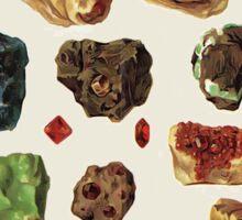Vintage Geology Gemstone Crystal Minerals Sticker
