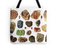 Vintage Geology Gemstone Crystal Minerals Tote Bag