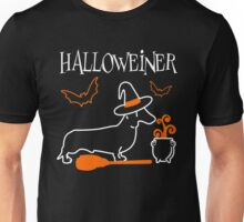 Dachshund Halloweiner T-Shirt Funny Halloween For Dog Lovers Unisex T-Shirt