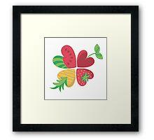 Sommer-Obst-Blume Framed Print