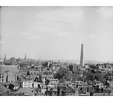 Vintage Photograph of Charlestown Massachusetts Photographic Print