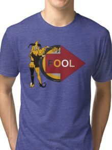 Funny jester comic prank Im with fool Tri-blend T-Shirt