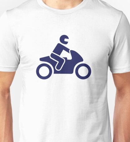 Motorcycle driver Unisex T-Shirt