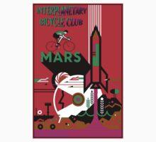 INTERPLANETARY BICYCLE CLUB; Mars Advertising Print Kids Tee