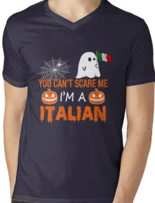You Can't Scare Me I'm A Italian, Funny Halloween Gift Mens V-Neck T-Shirt