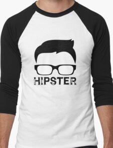 Cool Retro Hipster Glasses Design Men's Baseball ¾ T-Shirt