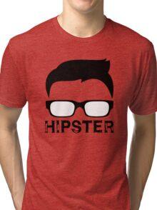 Cool Retro Hipster Glasses Design Tri-blend T-Shirt