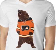 Flyers Ghost Bear Mens V-Neck T-Shirt