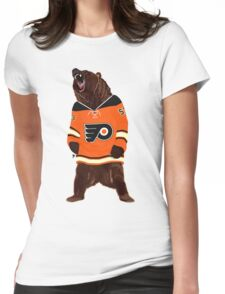 Flyers Ghost Bear Womens Fitted T-Shirt