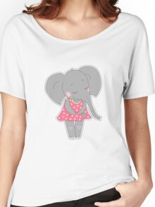 Cute elephant girl Women's Relaxed Fit T-Shirt