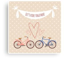 Bike lovers. Canvas Print