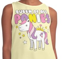 Queen of all ponies Contrast Tank