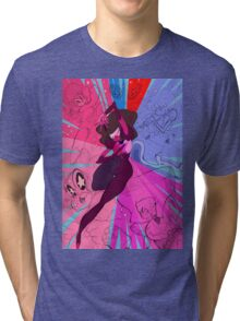 Garnet: Sapphire and Ruby Steven Universe Tri-blend T-Shirt