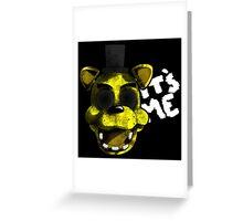Golden Freddy Greeting Card