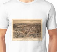 Vintage Pictorial Map of Chicago (1871) Unisex T-Shirt
