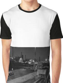 The port of Vasa,Hamn,Port,Industria Graphic T-Shirt