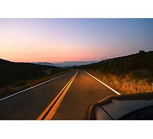 Sunrise Highway, San Diego County, California Photographic Print