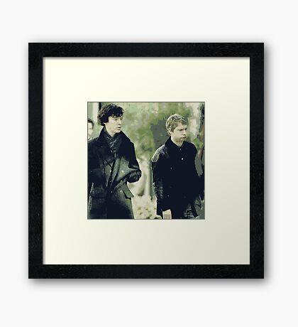 Johnlock Framed Print