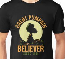 Great Pumpkin Believer T-Shirt, Funny Halloween Quote Gift, Great Pumpkin Believer Since 1966 1 Unisex T-Shirt