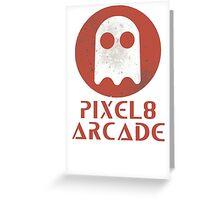 Pixel 8 Arcade Greeting Card