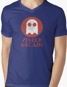 Pixel 8 Arcade Mens V-Neck T-Shirt