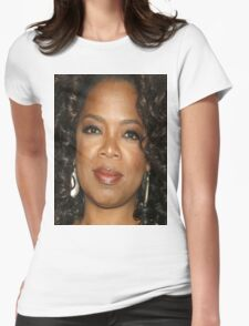 Oprah Close Up Womens Fitted T-Shirt