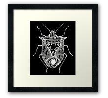 cosmic stink bug in white Framed Print