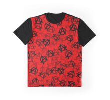 Anarchy (black on red) Graphic T-Shirt
