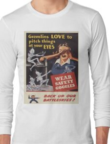 Vintage poster - Workplace safety Long Sleeve T-Shirt