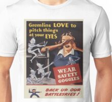 Vintage poster - Workplace safety Unisex T-Shirt