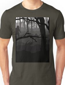 What lies in the mist? Unisex T-Shirt