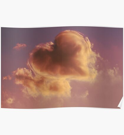 cloudy sky heart Poster