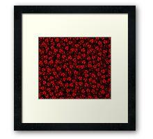 Anarchy (red on black) Framed Print