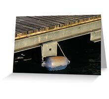 docking on the pier Greeting Card