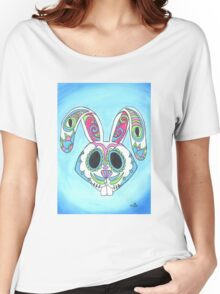 Skull Candy Easter Bunny Sugar Skull Women's Relaxed Fit T-Shirt