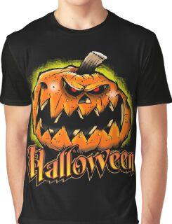 Scary Jack-'o-Lantern Halloween Graphic T-Shirt
