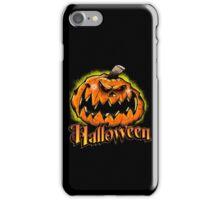 Scary Jack-'o-Lantern Halloween iPhone Case/Skin