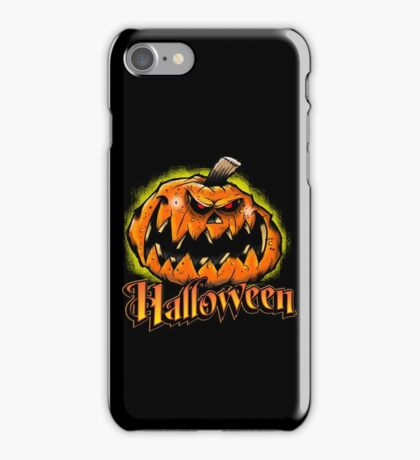Scary Jack-'o-Lantern Halloween iPhone Case/Skin