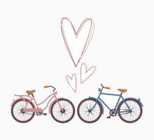 Bike lovers. White background. by shizayats