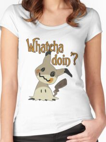 Whatcha doin', Mimikyu? Women's Fitted Scoop T-Shirt