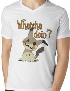 Whatcha doin', Mimikyu? Mens V-Neck T-Shirt