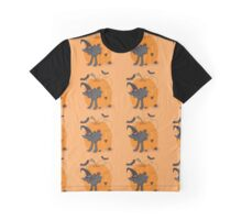 Spooky Kitty Halloween Pattern Graphic T-Shirt