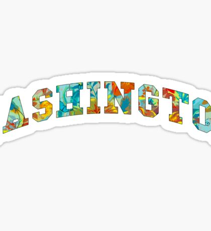 washington state tropical Sticker