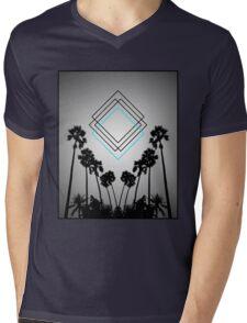 Palm Squares Mens V-Neck T-Shirt
